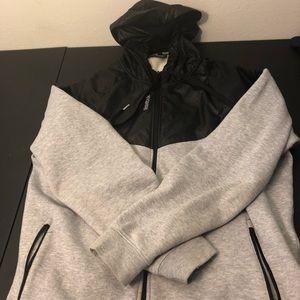 Full Zip Reebok Jacket Hoodie Size L